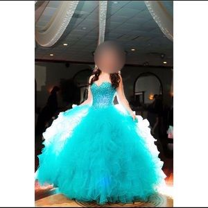 Blue Mori Lee sweet 16 dress